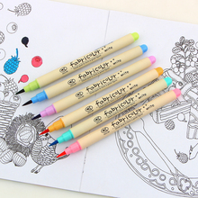 10 Colors/set Watercolor Soft Brush Marker Pen Sketch Art Brush Marker Drawing Pens Calligraphy pen School Stationery Supplies new soft brush fineliner calligraphy twin marker black ink drawing sketch brush marker pen arts supplies