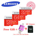 Samsung EVO+ 80MB/s Memory card 32GB 64GB 128GB class10 flash tf card micro sd card free 2 in 1 OTG Micro usb Card Reader