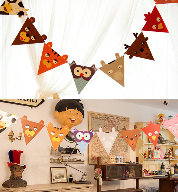 1.8M Cartoon Animal Kids Party Decoration Flags Garlands Birthday Festive  Home Wall Decor Flag Bunting Garland Party Supplies In Banners, ...