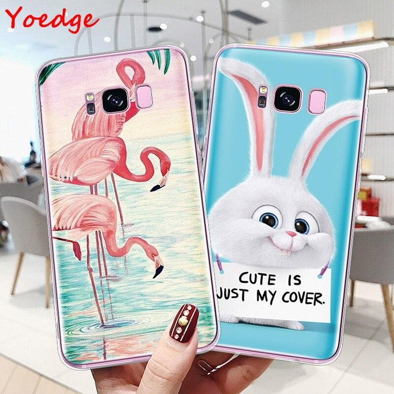 Cat Flamingo Soft Cover For Samsung Galaxy A3 A5 A6 A7 A8 J3 J4 J5 J6 J7 Prime 2016 2017 2018 S8 S9 S10 S10e Plus Note 8 9 Case