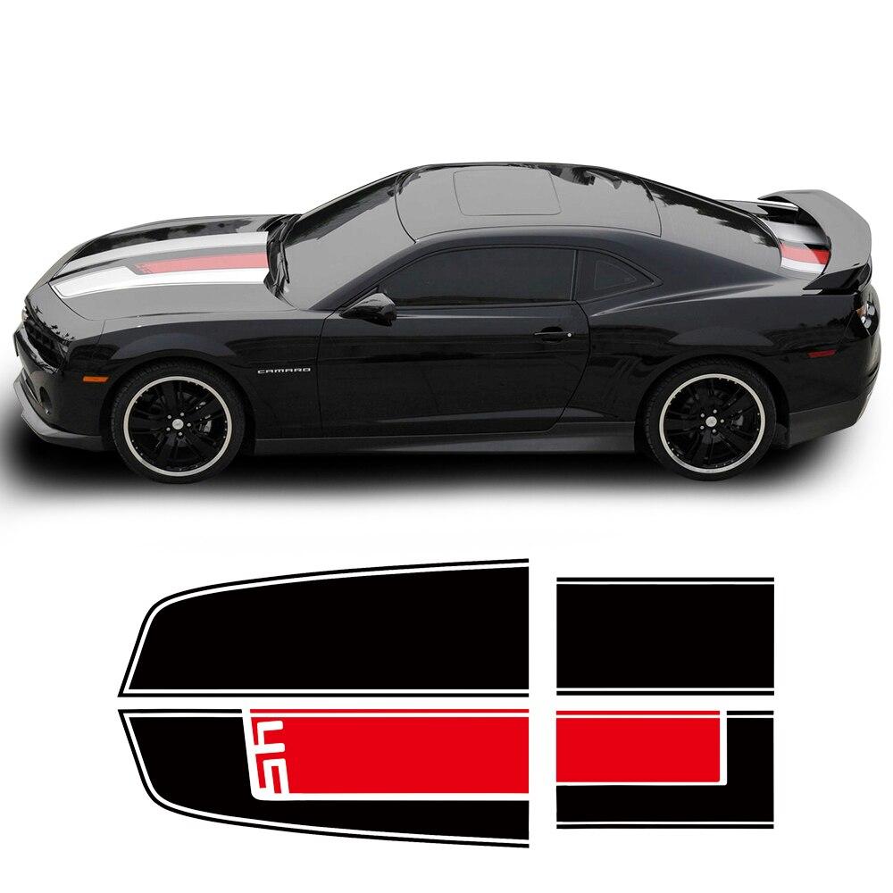 Capot toit coffre capot moteur capot pare-chocs arrière course rayure vinyle autocollant pour Chevrolet Camaro SS Z28 ZL1 RS accessoires