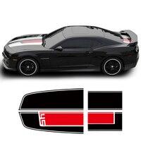 Hood Roof Trunk Engine Cover Bonnet Bumper Rear Racing Stripe Vinyl Decal Car Sticker for Chevrolet Camaro Car Accessories Black
