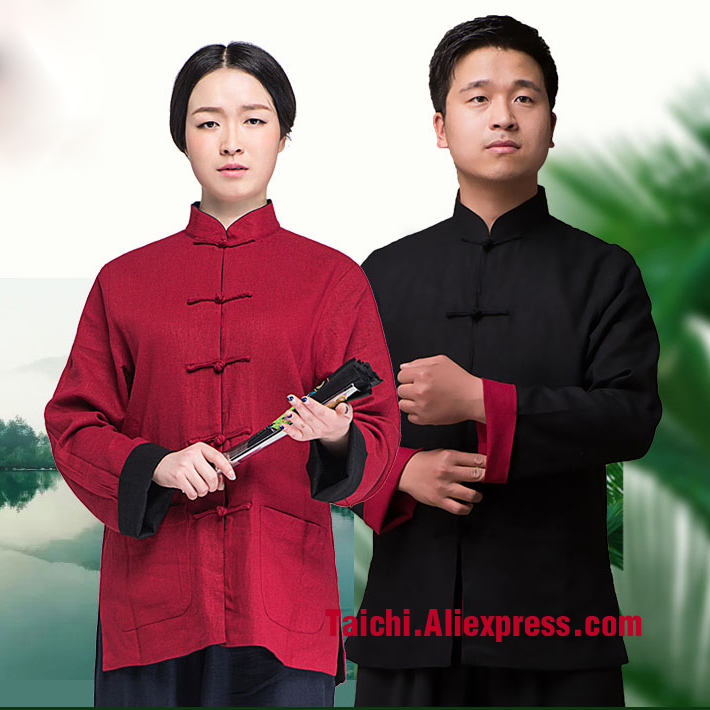 Reversible Wing Chun Tang Suits linen and cotten  Martial Arts Kungfu Uniforms  Chinese Clothing Black And Red  Blue And White high quality kendoist white kendo laido aikido hapkido hakama martial arts uniforms japanese dobok sz xxs 6xl