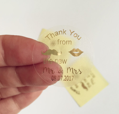 Personalised wedding stickers labels wine glass clear stickers 90 pieces 3cm custom thank you from mr and mr favors decoration on aliexpress com alibaba