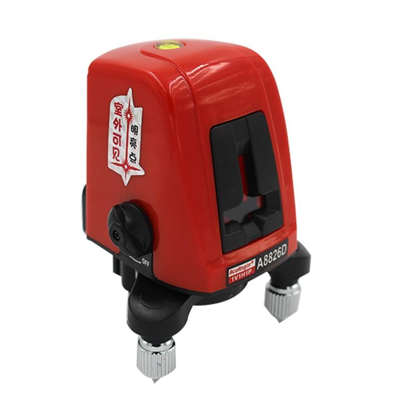 360 Degree Self Leveling Portable Mini Cross Red Laser