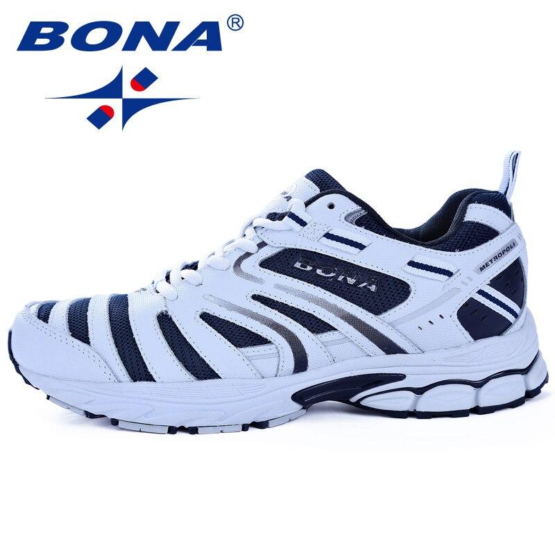 BONA nouveauté Hot Style hommes chaussures de course en plein air marche Trekking chaussures de sport confortables léger livraison gratuite - 4