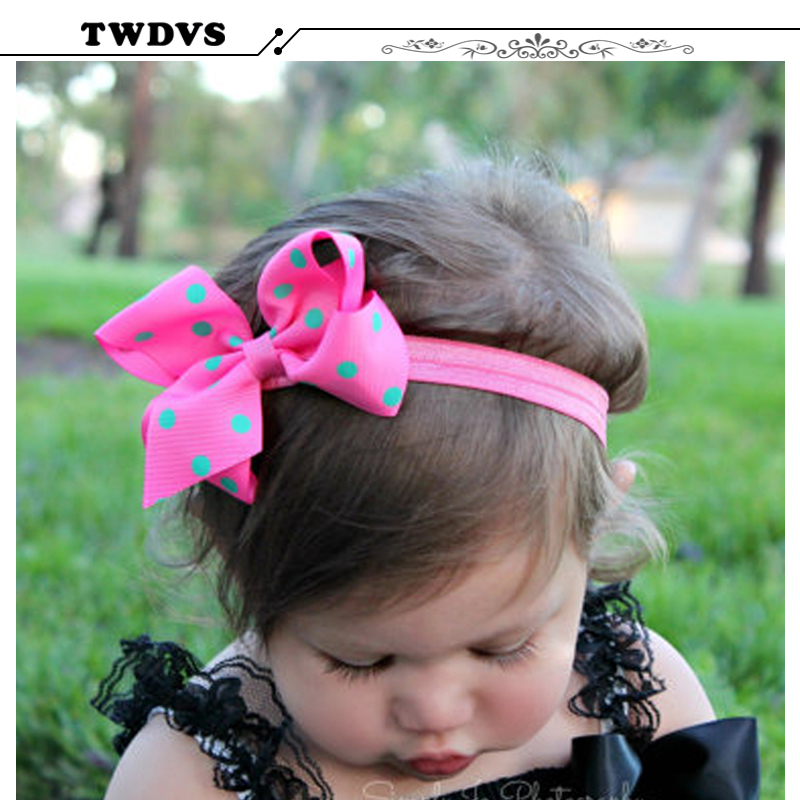 TWDVS Girls Big Bows Infant Baby Flower Headband  Hair Elastic Headbands Bows Hair band kids Children Fabric Accessories  w--005 10pcs lot 2016 new baby girls elastic headband flower head band newborn infant flowers hair band kids baby hair accessories