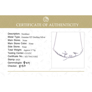 Image 5 - Lotus Fun Real 925 Sterling Silver Handmade Fine Jewelry Bird on Branches Necklace with Pendant Acessorios for Women Collier