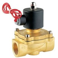 Free Shipping High Quality 2PCS In Lot 12V Voltage Fluid Control 2 Way Brass Solenoid Valve Oil Gas Water G1 1/2''