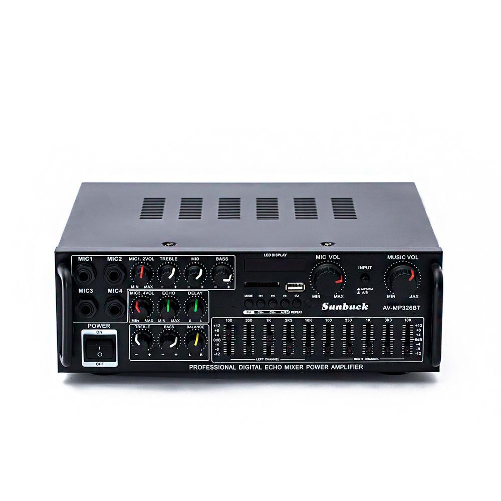 110V 220V 12V 2.1 canal 200W haute puissance Bluetooth FM USB MP3 karaoké amplificateur 10 segments égaliseur famille voiture amplificateur audio