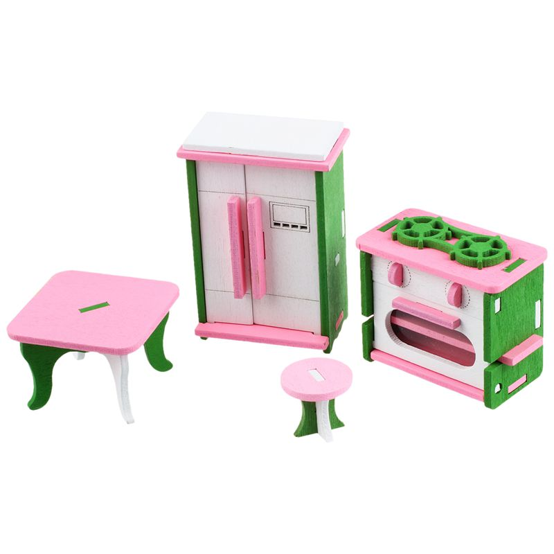 Baby Wooden Dollhouse Furniture Dolls House Miniature Child Play Toys Gifts #8