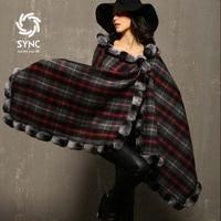 Autumn&Winter New Fashion Fur cape,Chinchilla fight Rex leather cape Wool shawl scarf Free shipping S301