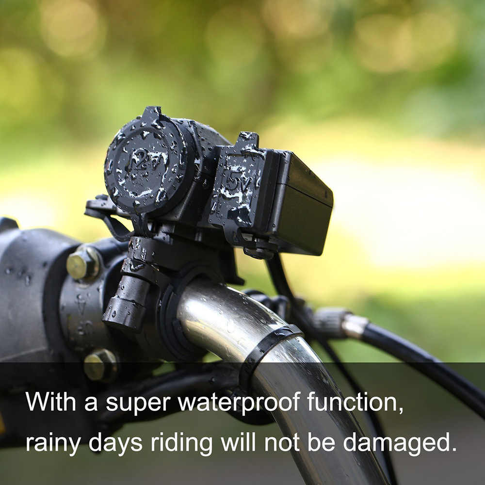 Motorcycle Accessories 12V-24V Motorcycle 2.1A USB Waterproof Power Charger(Cannot use cigarette lighter)