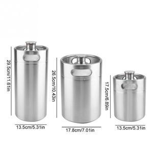 Image 2 - 2/3.6/5L Stainless Steel Mini Beer Keg Pressurized Growler for Craft Beer Dispenser System Home Brew Beer Brewing Beer Supplies