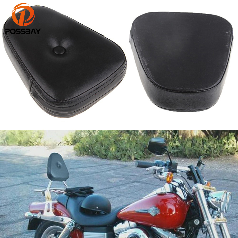 POSSBAY Motorcycle Seats Triangle Backrest Cushion Pad Cafe Racer Seat Fit For Suzuki Yamaha Honda Kawasaki Harley Scooter Pad image