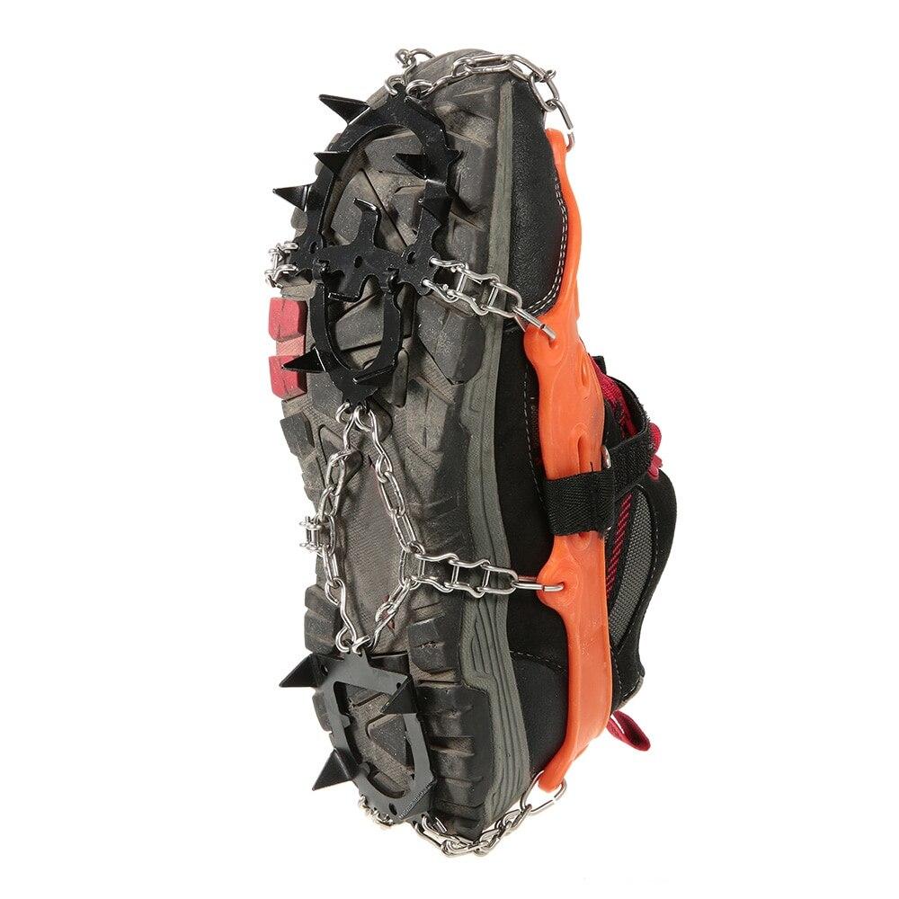 2 pièces 14-Dents 2 Couleur Sport Anti-dérapant Pince À Glace Crampons Chaussure Poignées Crampon Chaîne Spike Neige pour L'escalade De Randonnée