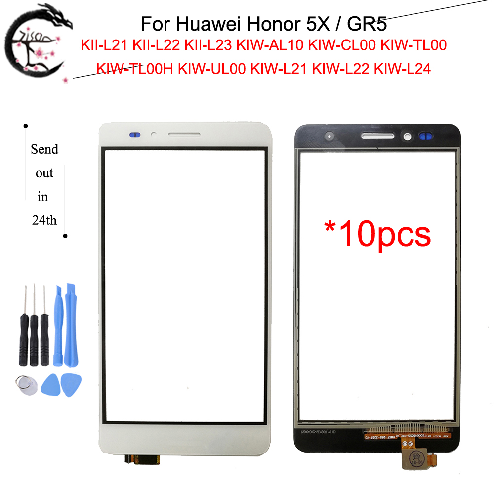 10PCS <font><b>Touch</b></font> Panel For <font><b>Huawei</b></font> <font><b>Honor</b></font> <font><b>5X</b></font> GR5 KIW-L21 KIW L22 L24 <font><b>Touch</b></font> <font><b>Screen</b></font> With FPC Flex Cable Honor5X KII-L21 Sensor Digitizer image