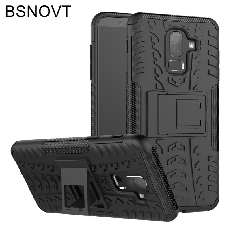 For Samsung Galaxy J8 2018 Case Soft TPU +Hard Plastic Anti-knock Cover