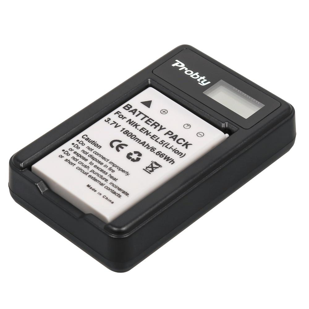 EN-EL5 Li-Ion Batería//Cargador USB para Nikon Coolpix P500 P6000 P5000 P3 P4