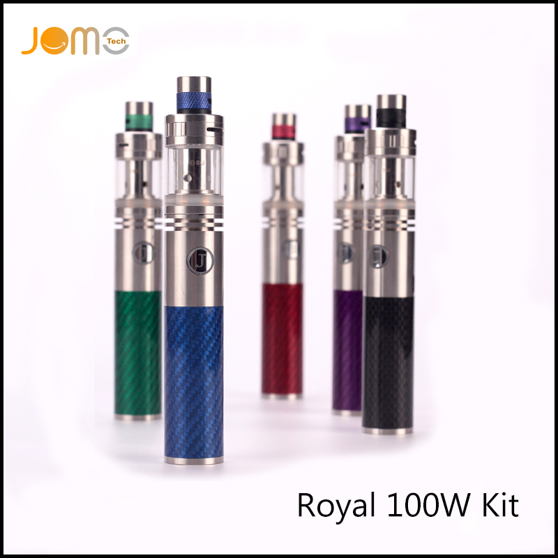 RU Wholesale JomoTech Royal 100w Vape Pen Huge Vaporizers Carbon Fiber font b Electronic b font