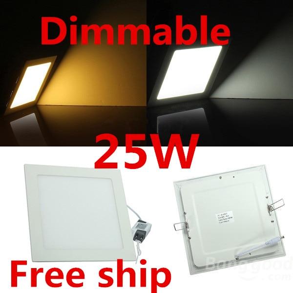 Светодиодный светильник с регулируемой яркостью света 3 Вт 4 Вт 6 Вт 9 Вт 12 Вт 15 Вт Squre Ультратонкий SMD 2835 Потолочная панель Фонари белый / теплый белый Бесплатная доставка