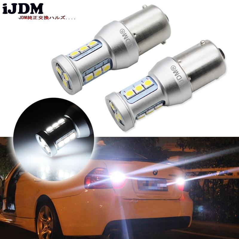 2шт высокой мощности Белый 1156 P21W BA15s удара С15 7506 светодиодные лампы для тормоз, DRL, света сигнала поворота, резервного копирования свет лампы 12В желтый красный