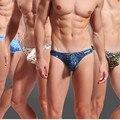 3 pçs/lote New WJ G-corda Dos Homens impresso underwear Thong Low-rise sexy underwear 4 cores Tamanho S/M/L/XL