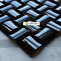 11pieces one box High quality 3D convex metal mosaic ceramic backing wall mosaic tile convex silver metal mosaic mosaic tiles