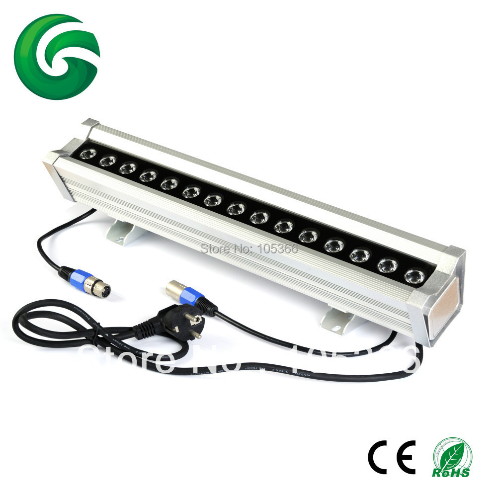 ФОТО FCC SAA CE&RoHS 100-240V AC 15x2W RGB LED Wall Washer dmx512 controller IP65 with 3years warranty