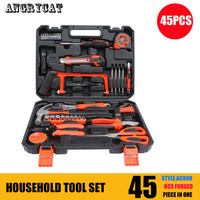 45 PCS Tool Set Hand Tools for HOUSEHOLD Repair Set of Tools Instruments Mechanic Tools Sockets Set Ratchet Wrenches Spanners