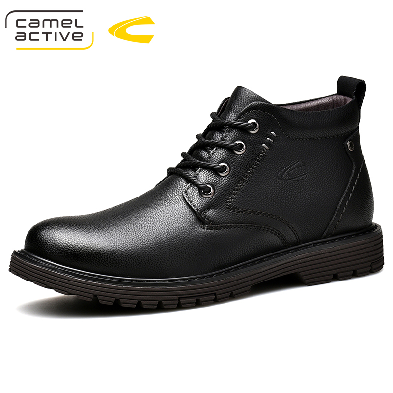 Camel Active New Men's Winter Boots Short Plush Warm Genuine Leather Boots Snow Boots Man Fashion Casual Youth Trend Male Boats шапка унисекс с полной запечаткой printio шапка iron maiden eddie storm brave new world