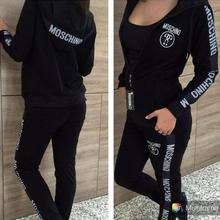 New Hooded Solid tracksuit Long Pants Running Womens set breathable Plus Size workout sexy sports suits