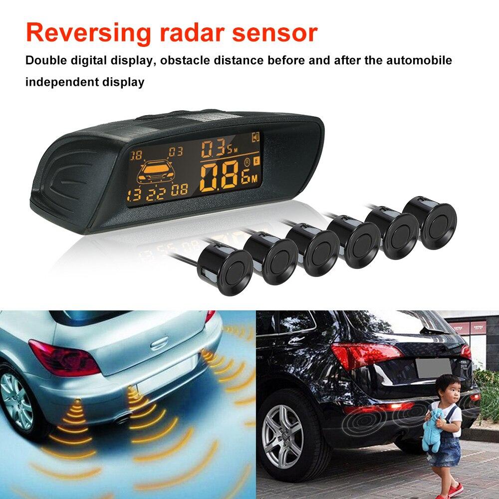Car Rear View Radar Parking System Car Reversing Buzzer LED 6 Radar Sensor Automotive Electronics Accessories 4pcs lot reversing radar sensor reversing radar probe parking sensors 6 colors for choose