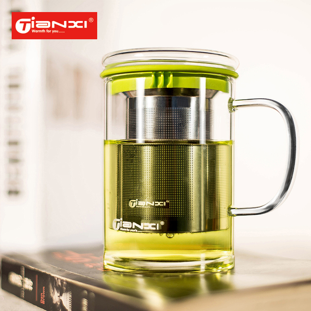 450ml High grade Thickening glass Tea  cup  Water Glass Office Cup Tea mug