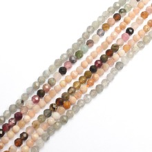 Natural  Faceted 2mm Natural Beads Sunstone  Quartz Crystal Gemstone Beads For Jewelry Making work DIY Bracelet necklace sapphire natural loose gemstone oval 7x9mm faceted beads for inlaid silver 925 jewelry making ring necklace diy icnway