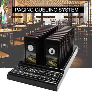 999 канала Ресторан Беспроводной пейджер очереди Системы 1 передатчик + 20 Coaster пейджер оборудования трансивер гостевой таблице Вызова