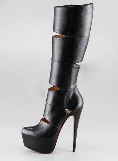 2019 Newest design Knight boots Women Genuine Leather hollow knee boots Top quality thin heel sexy super high party boots2019 Newest design Knight boots Women Genuine Leather hollow knee boots Top quality thin heel sexy super high party boots