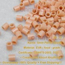 5 мм перлер бусины(розовый-Id: 16) Хама бусины, плавленые бусины~ создать только что~ Гарантированное качество