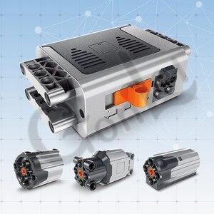 Image 5 - טכני חשמלי PF חלקי בינוני XL גדול מנועים הארכת כבל היגוי אלכס קרן הילוך מסגרת 64179 MOC בריק בלוקים סט התאגרף