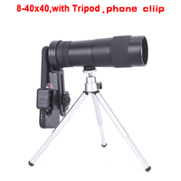 Powerful 8 40X40 High Quality Zoom Monocular Professional Telescope Portable For Camping Hunting Lll Night Vision Binoculars HD