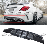 FD Style Car Styling Carbon Fiber Rear Bumper Spoiler Diffuser for Mercedes Benz W205 4 Door AMG & C63