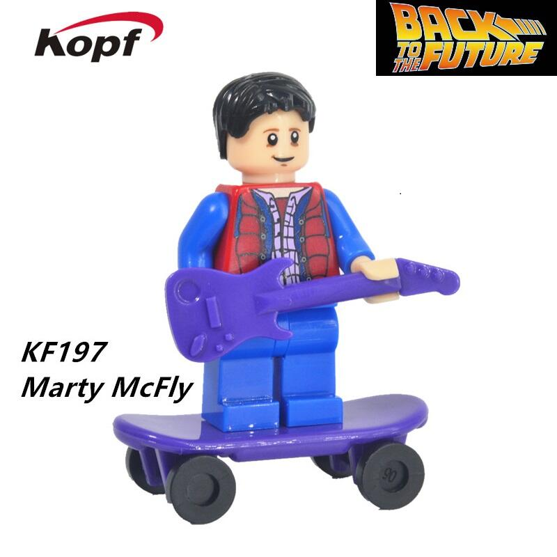 Building Blocks Super Heroes Single Sale Doc Brown Back to the Future Figures Marty McFly 71201 Bricks Children Gift Toys KF197