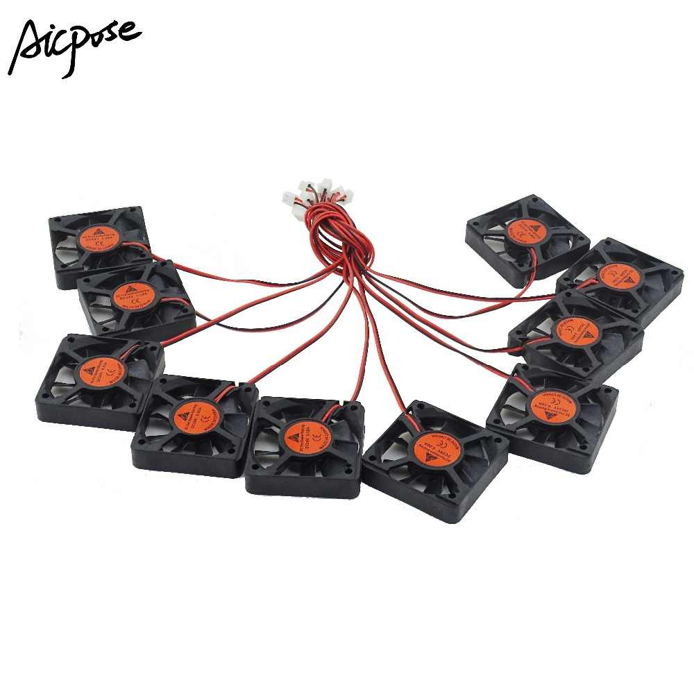 10Pcs/lots 5x5 Silent Fan 12v or 24v With Cable 15cm For Use 5x5cm fans Led PAR Light Repair Parts