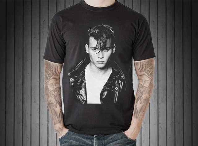 1f7084a2 Online Shop Johnny Depp VTG Retro Graphic T-Shirt Film Movie Punk Rock Teen  Idol Sexy Icon 2018 Summer T Shirt | Aliexpress Mobile
