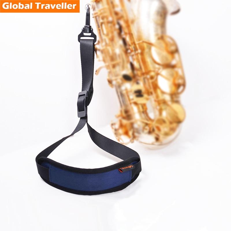 1 pieza Sax Strap Sax Neck Strap Arnés para Alto (Eb) y Tenor (Bb) Saxofón con diseño profesional reforzado con gancho de bloqueo