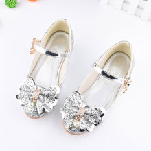 girl dancing shoes wedding and party Princess leather Children girls cut-outs kids glitter high heel BS026