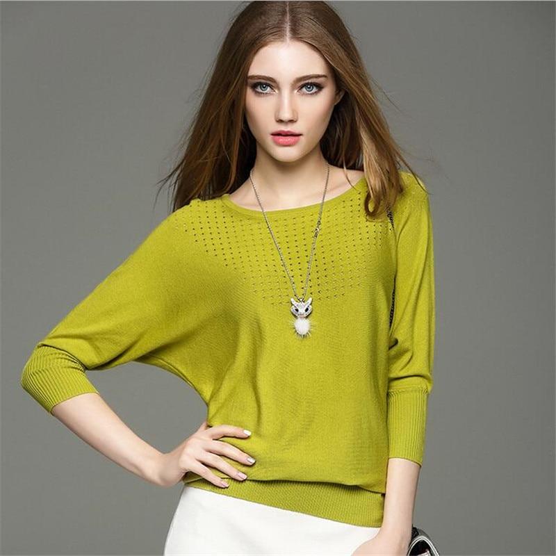Herfst Dames Blouses 2018 Lente Modal Pullover Blouse Dames Blusa Feminina O-hals Gebreide Blouse Dames Sweater Overhemd