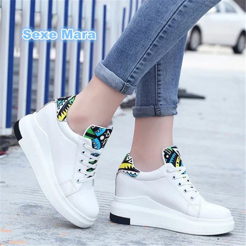 sneakers women High increased white sport shoes woman running shoes for women light Soft apartment zapatillas deportivas mujer