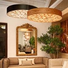 Modern Minimalist Color Wood Art LED  Restaurant Hotel Cafe Bar Lighting Fixtures Bedroom Pendant Lamps Living Room Study