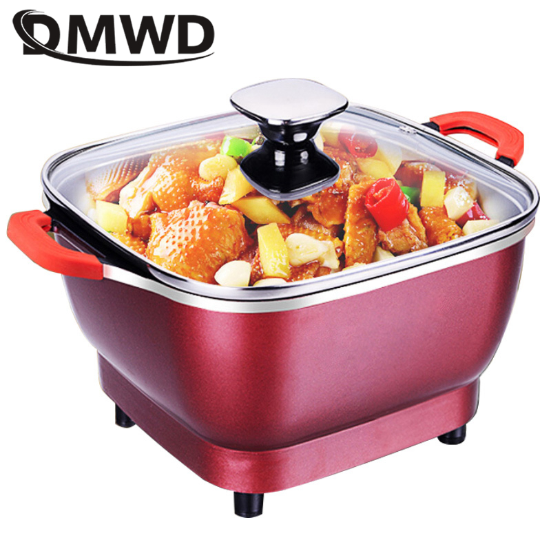 DMWD Electric Cooker Hot Pot Mini Multifunctional Electric Cooker Electric Dorm Boiler Electric Frying Pan Pot Noodle Pot Room